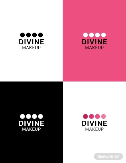 makeup artist logo design template 440