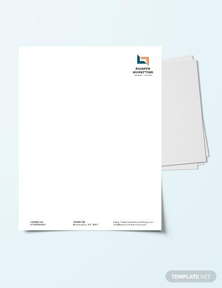 marketing agency letter head template1