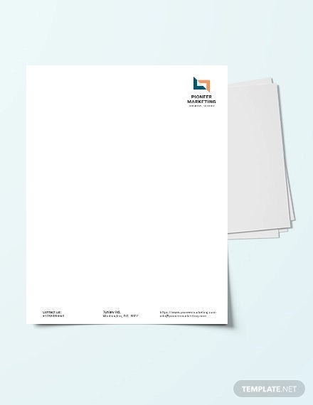 marketing agency letterhead template