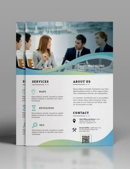 marketing business corporate flyer layout