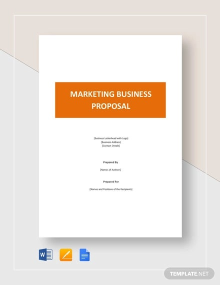 marketing business proposal template1