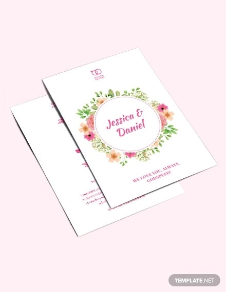 Marriage Greeting Card Template