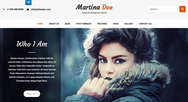 martina doe multilingual wordpress theme