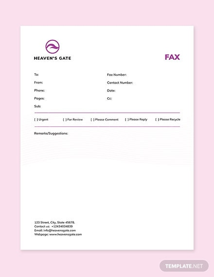massage fax paper template