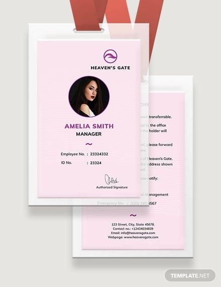 massage id card template mockup 4401