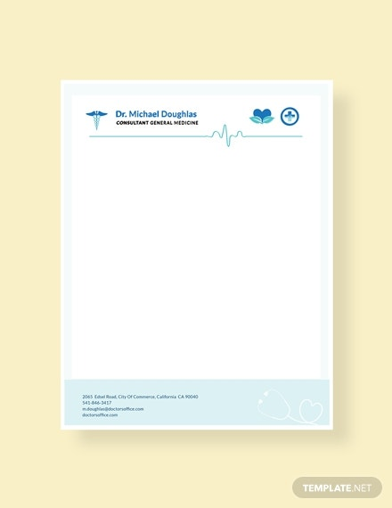 medical doctors letterhead format
