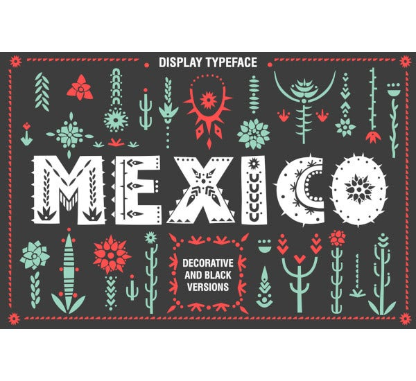 mexico font family template 2