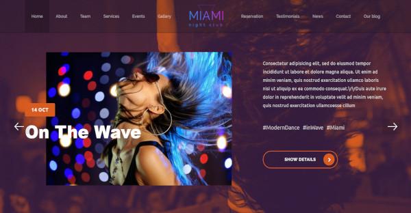 miami – modern nightclub wp theme