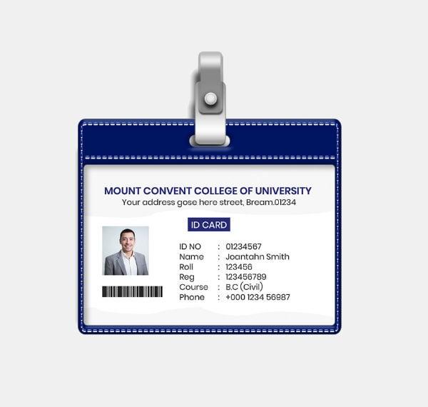 minimal student id card template1