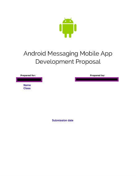 mobile app development proposal 1