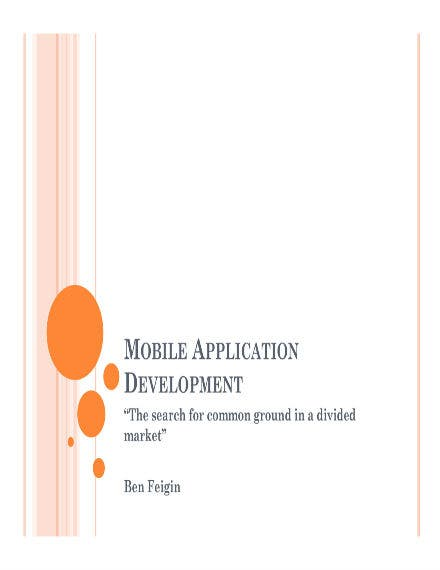 mobile application development 01