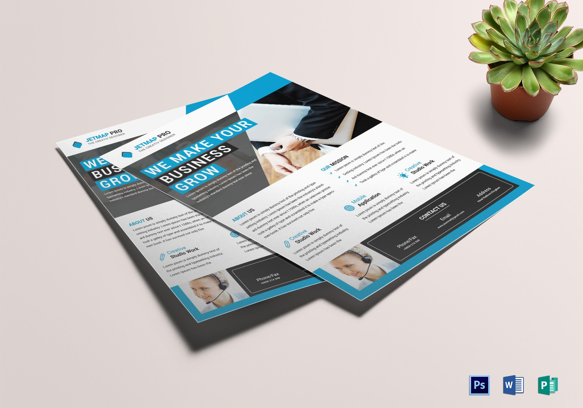 modern business corporate flyer design