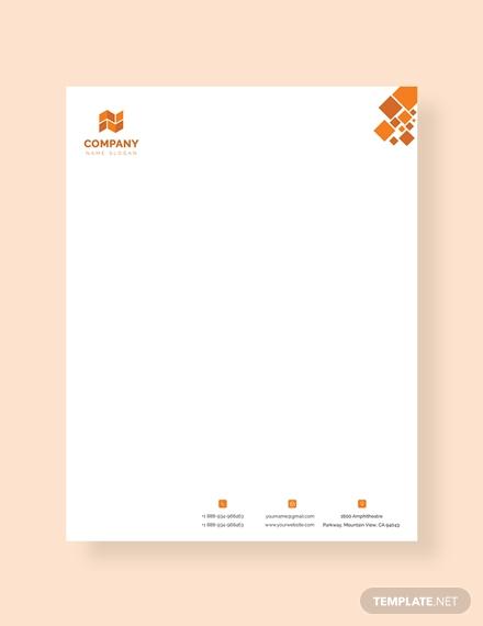 modern company letterhead example