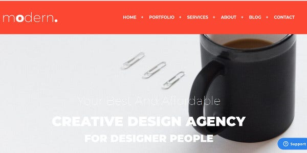 modern fully customizable wordpress theme