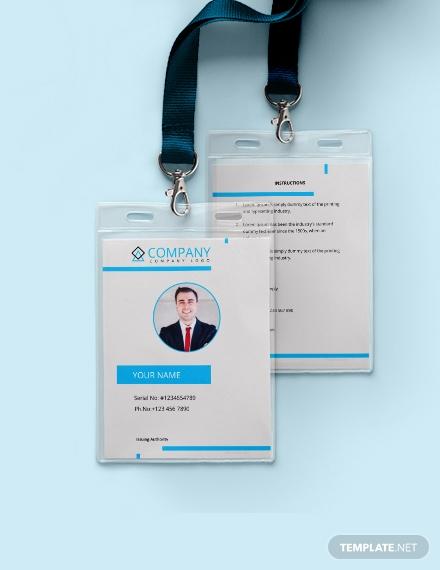 modern id card template