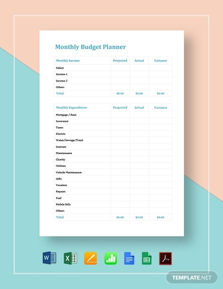 monthly budget planner template 2