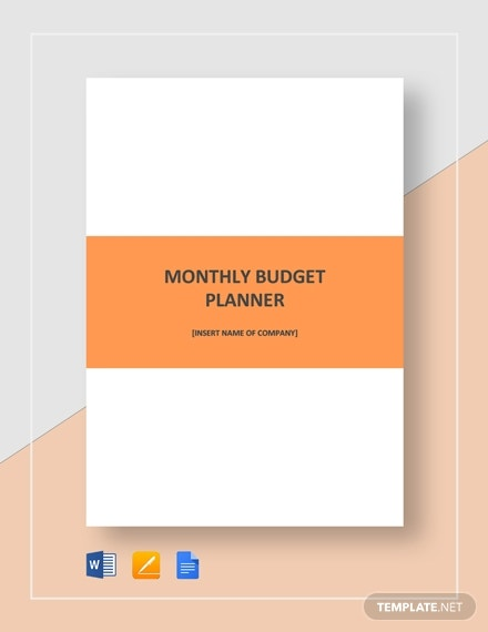 monthly budget planner template