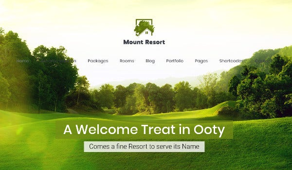 mount resort slider revolution wordpress theme