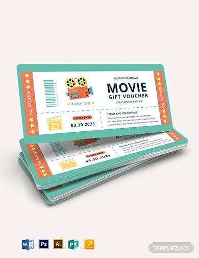 movie gift voucher template
