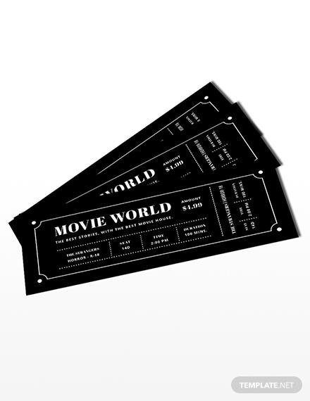 movie night ticket invitation template