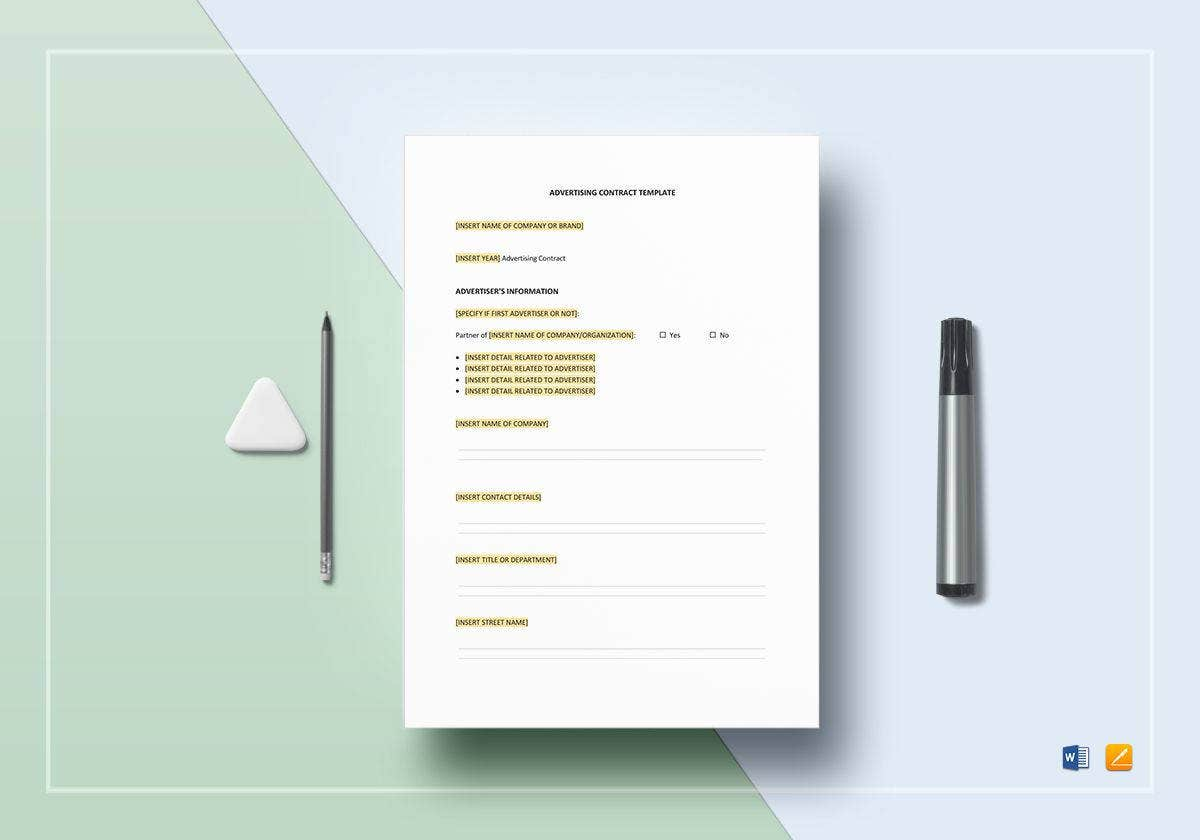 multipurpose advertising contract template