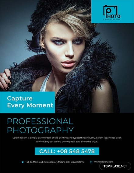 multipurpose photography flyer template 1x