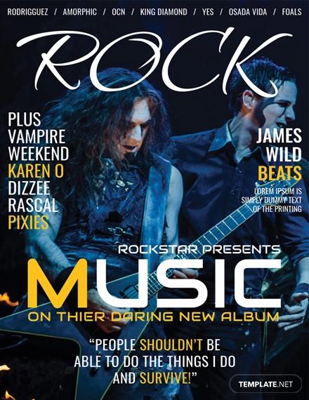 music magazine cover