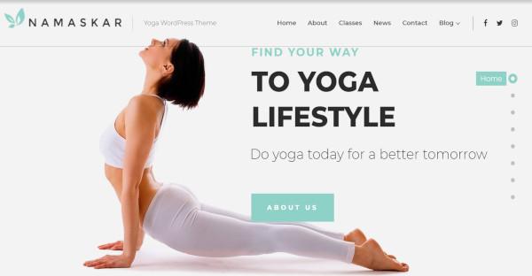 namaskar attractive fitness wordpress theme