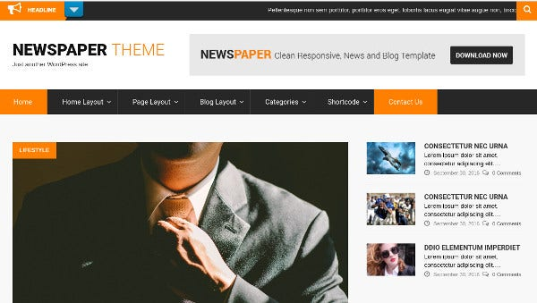 newspaper nextgen gallery compatible wordpress theme