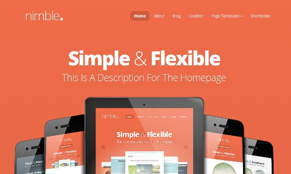 nimble advanced theme options wordpress theme