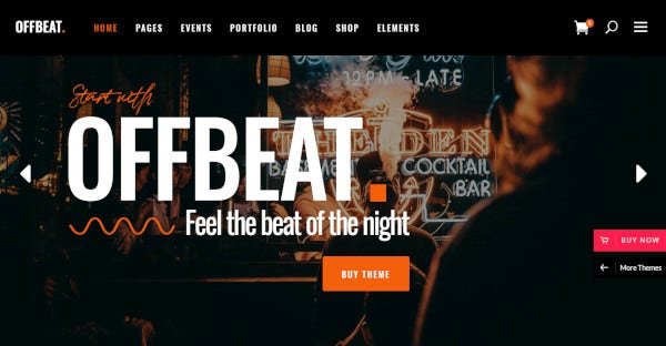 offbeat – differently styled nightclub wp theme