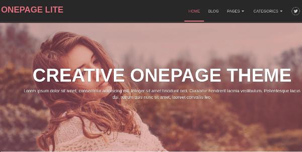onepage lite narrated video tutorials wordpress theme