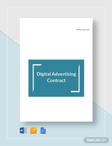 online digital advertising contract template
