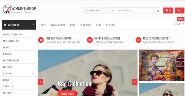 online shop easy to use wordpress theme