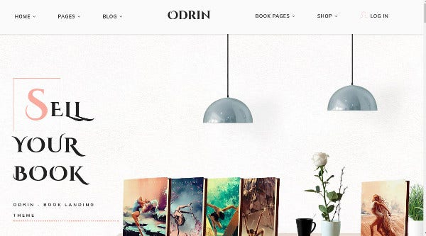 ordin flipping effect wordpress theme