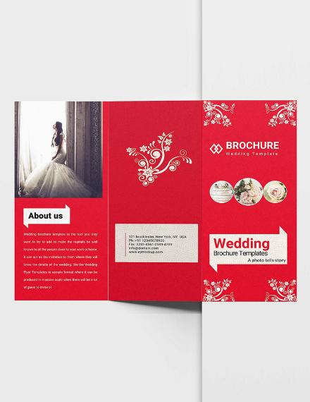 ornate trifold wedding brochure sample
