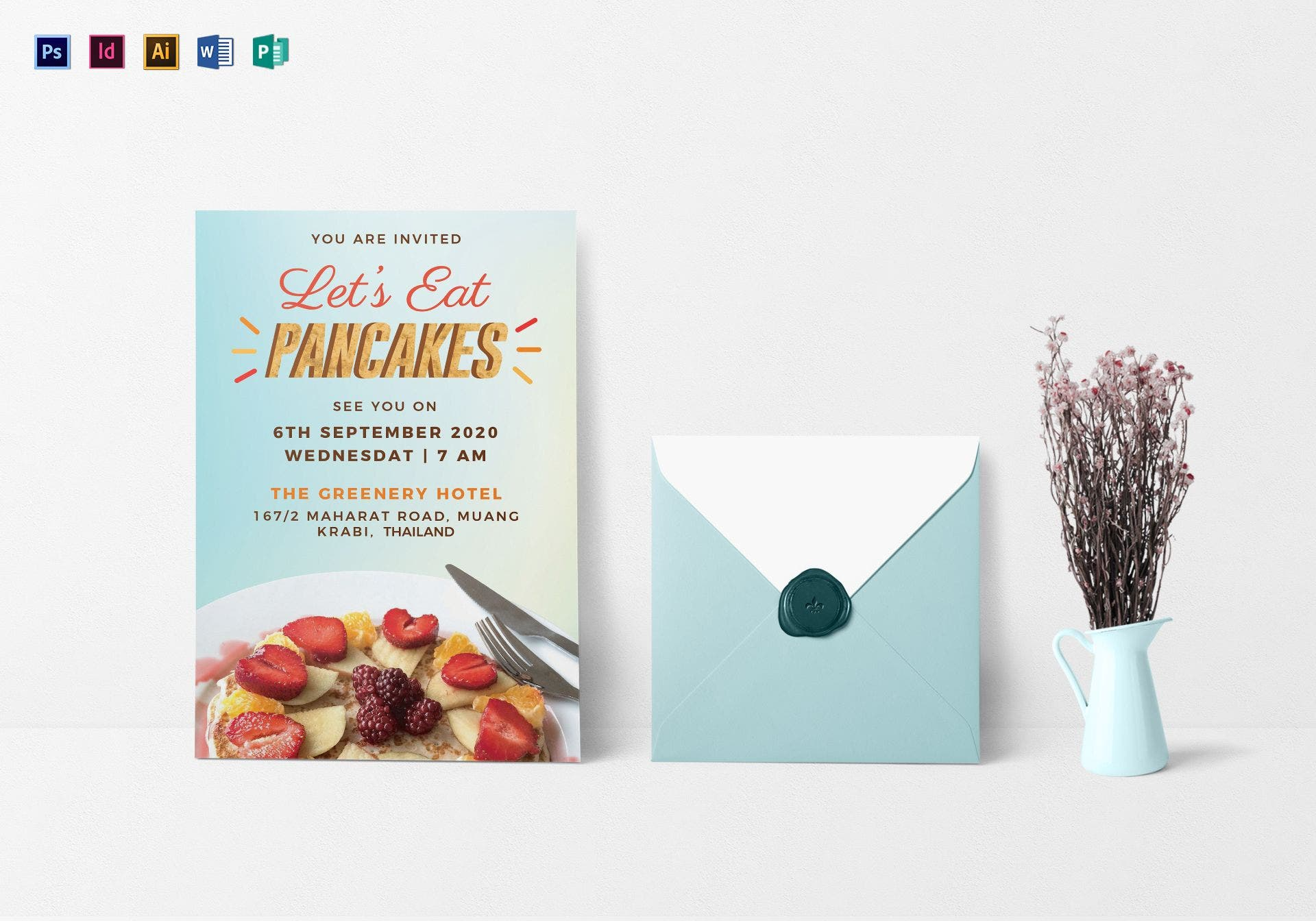 pancake breakfast invitation template