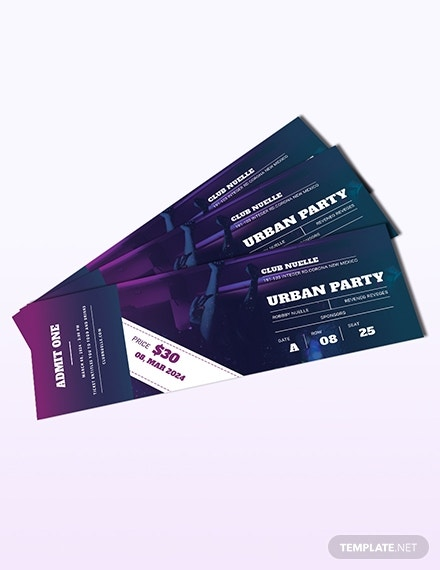 party ticket template 1