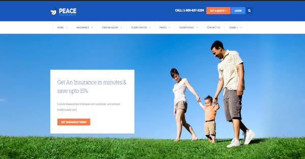Peace – Insurance Agency WP Theme