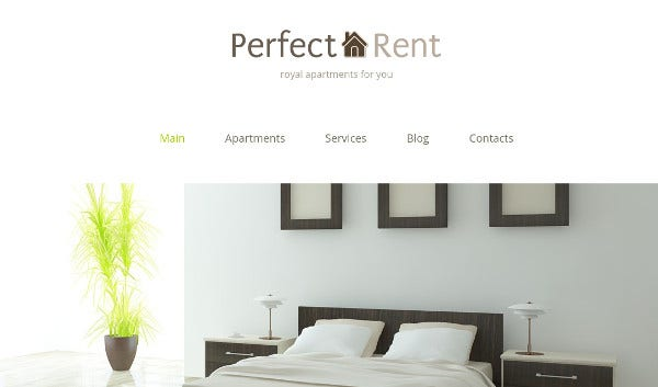 perfect rent parallax effect wordpress theme