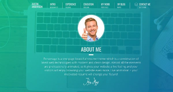 personage-easy-setup-cv-resume-high-resolution-wordpress-theme