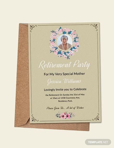 personal retirement party invitation