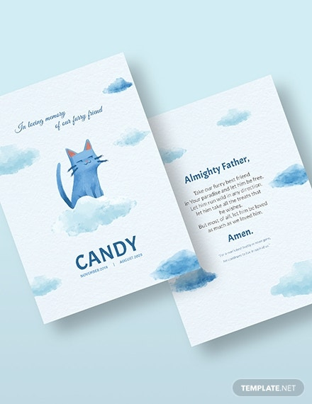 pet memorial card download