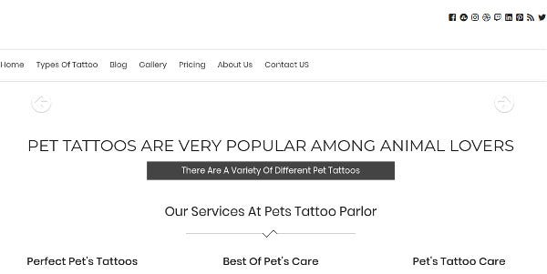 pet tattoo 3d tattoo design wordpress theme