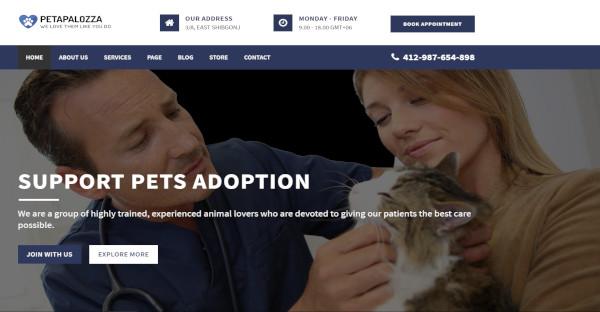 petapalozza animal care wordpress theme