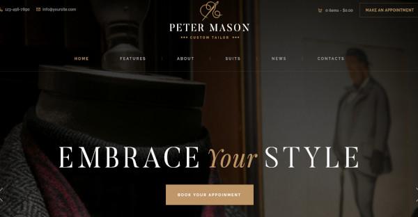 peter mason custom wordpress theme