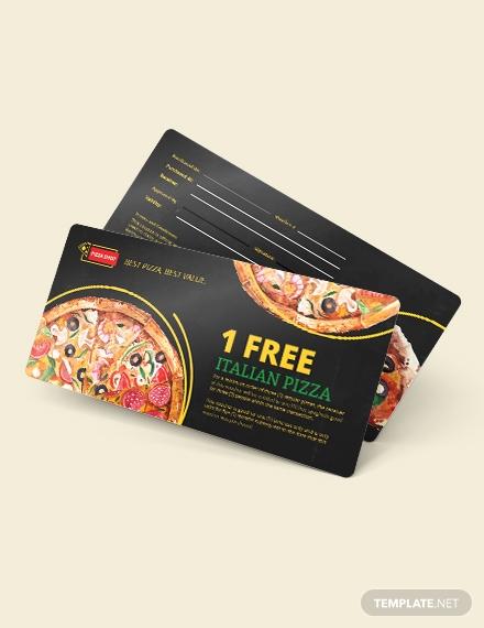 pizza parlor coupon format