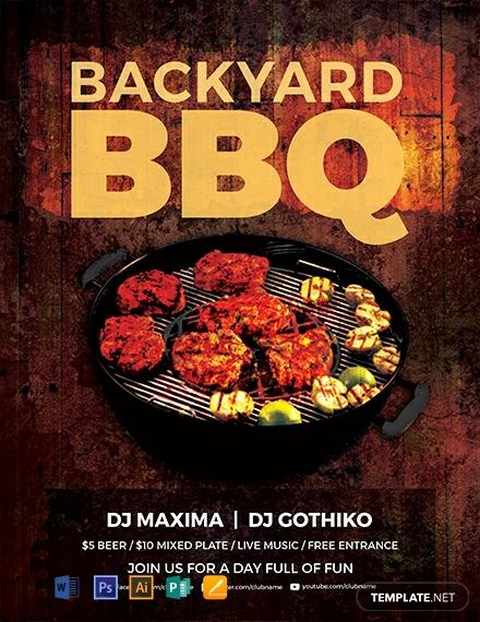 Premium Backyard BBQ Party Flyer