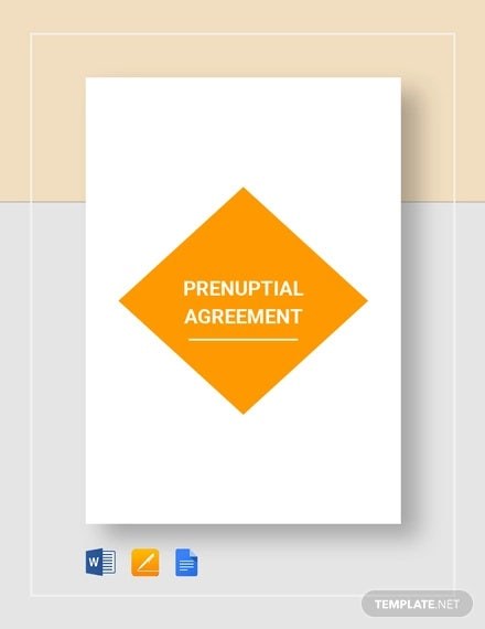 prenuptial agreement template