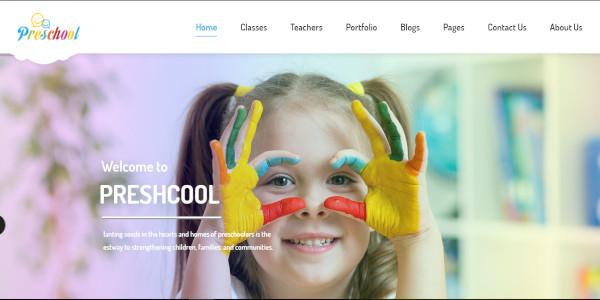 preschool simple but functional wordpress theme